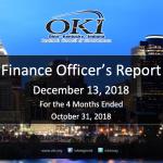 Finance Officer's Report - Dec 2018