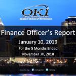 Finance Officer's Report - Jan 2019