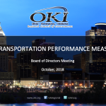 Adoption of Transportation Infrastructure and Congestion Performance Targets for the States of Ohio, Kentucky and Indiana