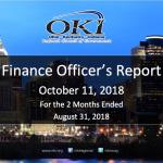 Finance Officer's Report